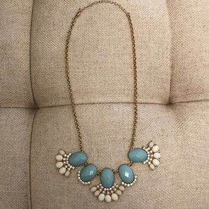 Jewelry - Statement Necklace Blue and Gold